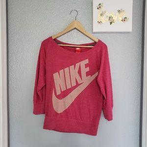 Nike pullover sweatshirt shirt size small pink
